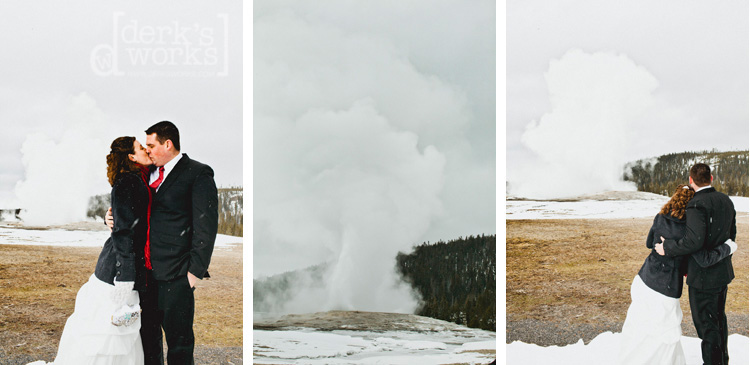 old faithful wedding kiss